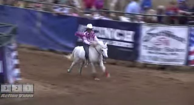 Cute Little Girl Barrel Racing